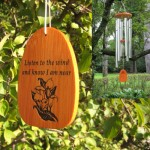 """engraved wind chime, personalized chimes, custom wind chimes"""